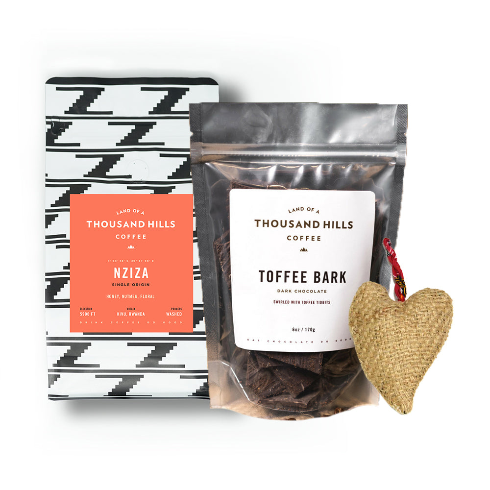 Coffee & Chocolate Gift Set w/Free Heart Keychain