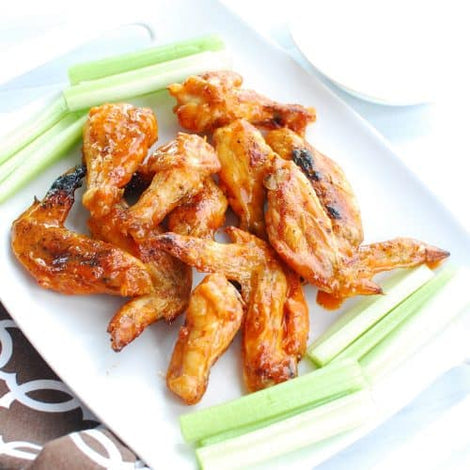 Crispy Keto Chicken Wings with Frank's Hot Sauce