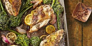 Lemon Rosemary Chicken with Roasted Broccoli