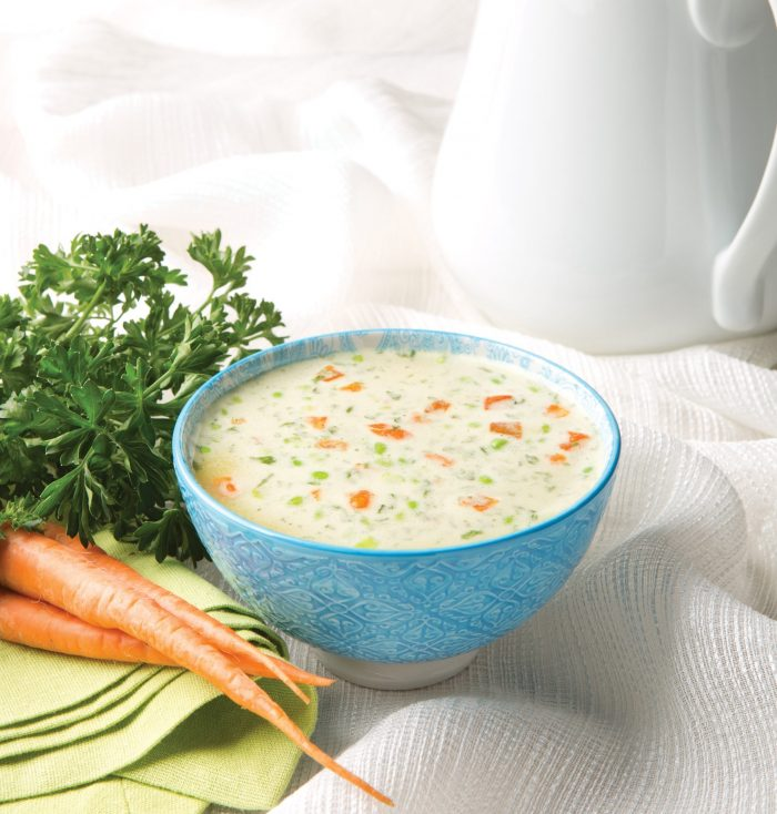 Cream of Chicken with Vegetable Soup (GF)