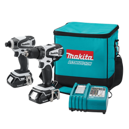 Makita LCT200W 18-Volt Compact Lithium-Ion Cordless Combo Kit 2-Piece