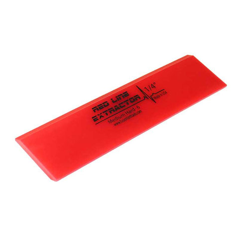 "GT2115 - 8"" Red Line Extractor 1/4"" Thick Double Bevel Squeegee Blade"