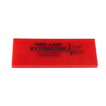 "GT2114B - 5"" Red Line Extractor 1/4"" Thick No Beveled Squeegee Blade"