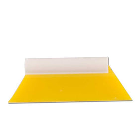 "GT235S - 5 1/2"" Yellow Turbo Squeegee With Handle"