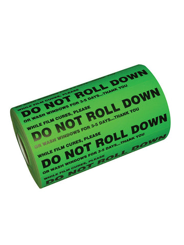 GT981 - Do Not Roll Down Sticker