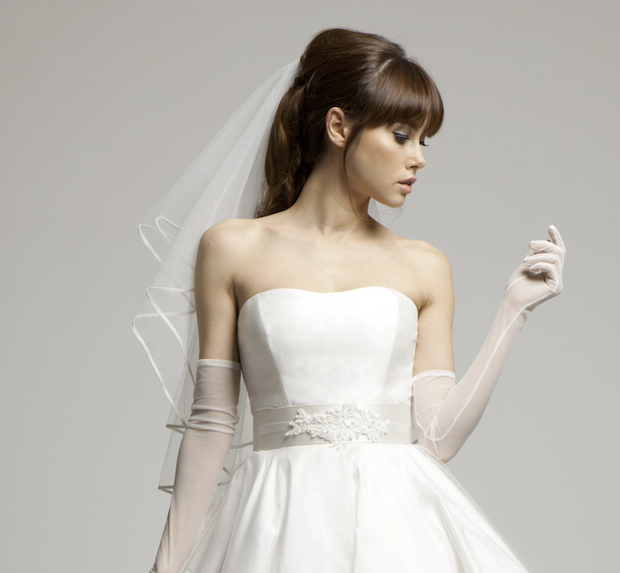 Alicia - Satin Edged Short Bridal Veil