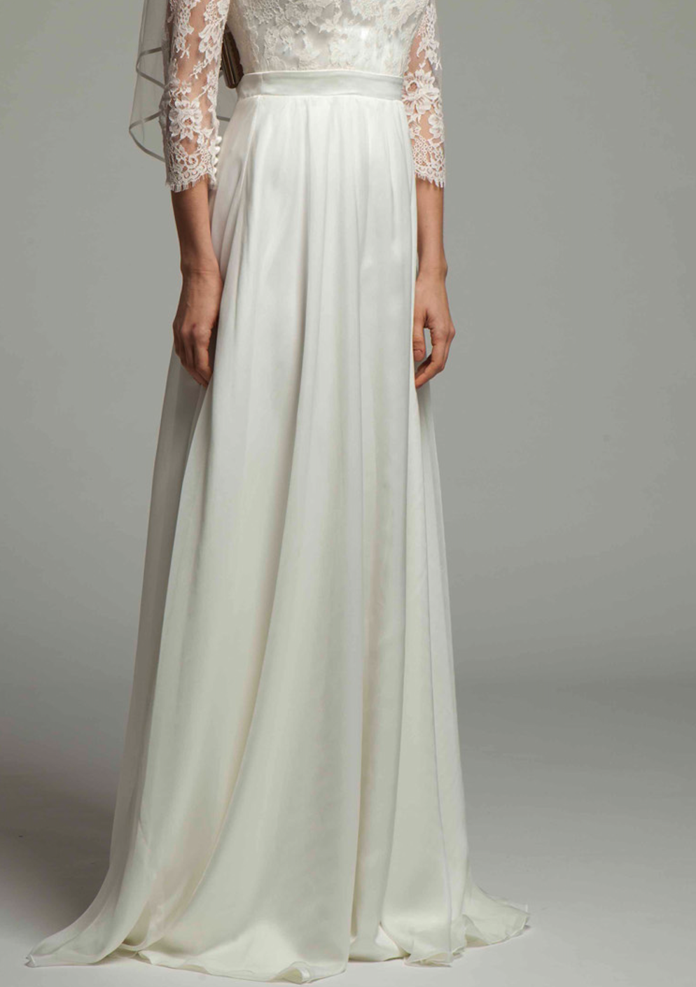 Soft Silk Chiffon Bridal A-line Skirt