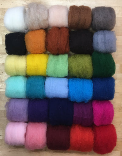 Bulky corriedale sample pack 30 colors