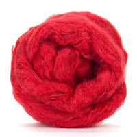 Tussah Silk Top Scarlet