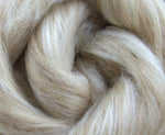 Fawn Alpaca and Tussah Silk Top / Roving