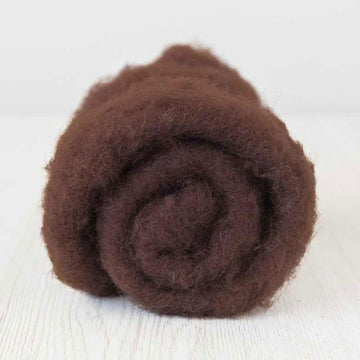 Bergschaf Wool Carded Batt - Chocolate