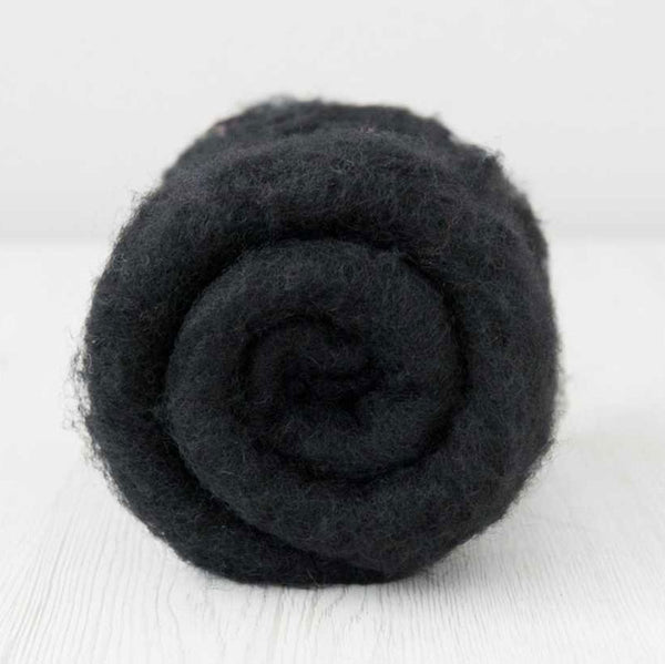 Bergschaf Wool Carded Batt - Dark