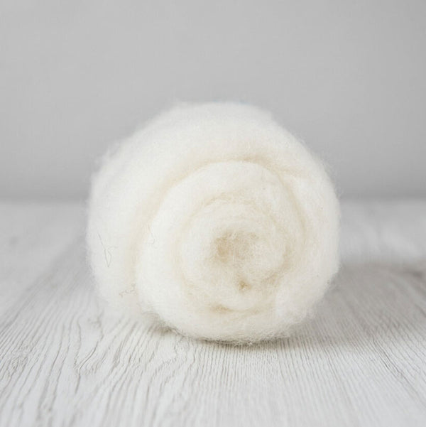 Bergschaf Wool Carded Batt - Natural White