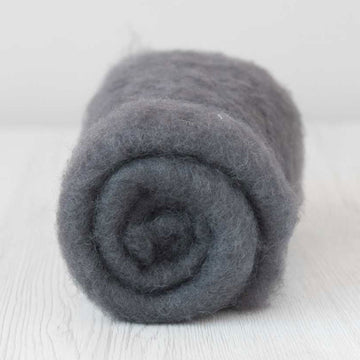 Bergschaf Wool Carded Batt - Storm