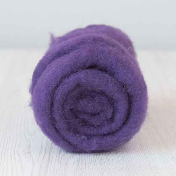 Bergschaf Wool Carded Batt - Violet