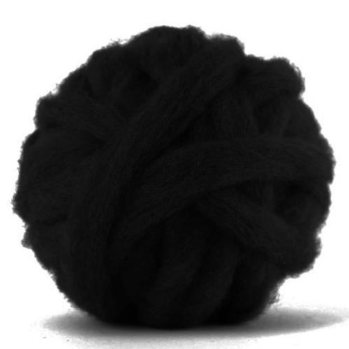 Corriedale Bulky Wool Roving-Black