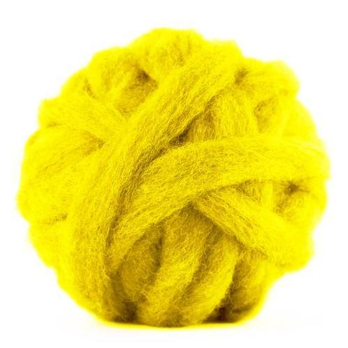 Corriedale Bulky Wool Roving-Buttercup