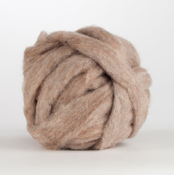 Corriedale Bulky Wool Roving-Rabbit