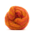 Corriedale Bulky Wool Roving-Peach Melba
