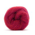 Corriedale Bulky Wool Roving-Sour Cherry