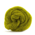 Corriedale Bulky Wool Roving-Sunflower