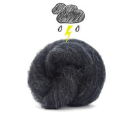 Corriedale Bulky Wool Roving-Thunder