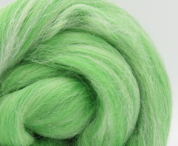 Dolomites Green - Merino and Aplaca Roving, Combed Top