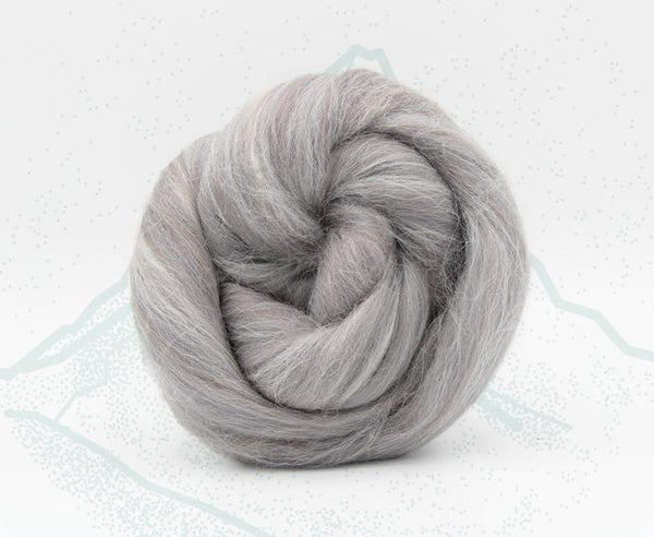 Eiger Grey - Merino and Aplaca Roving, Combed Top