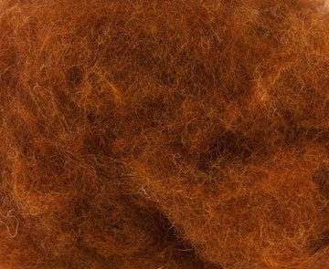 Corriedale Bulky Wool Roving-Fox