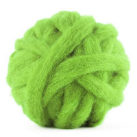 Corriedale Bulky Wool Roving-Leaf