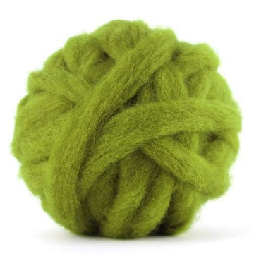 Corriedale Bulky Wool Roving-Lichen