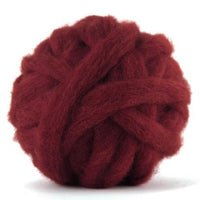 Corriedale Bulky Wool Roving-Loganberry