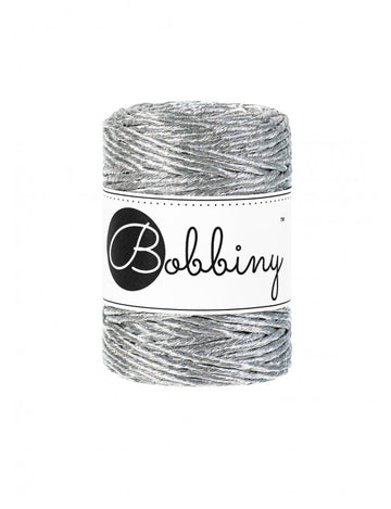 Macrame Cord 3mm Metallic Silver