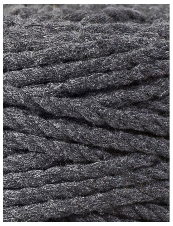 Macrame Rope 5mm Charcoal