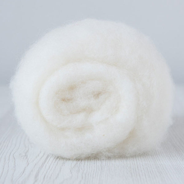 Maori Bergschaf Carded Batt-Natural White