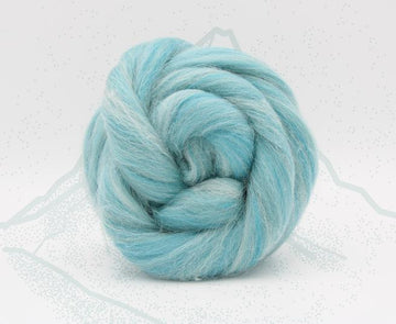 Matterhorn Blue - Merino and Alpaca Roving, Combed Top