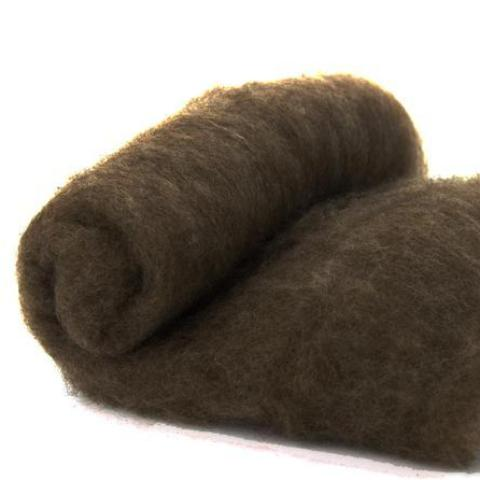 Merino Wool Carded Batt - Natural Brown-7 oz