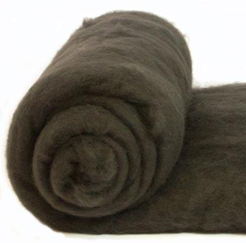 Merino Wool Carded Batt - Charcoal-7 oz