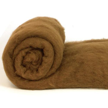 Merino Wool Carded Batt - Chocolate