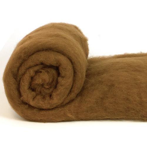 Merino Wool Carded Batt - Chocolate-7 oz