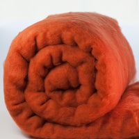 Merino Wool Carded Batt - Cinnamon-7 oz