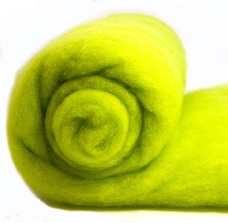 Merino Wool Carded Batt - Citrus-7 oz