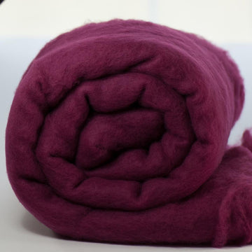 Merino Wool Carded Batt - Elderberry-7 oz