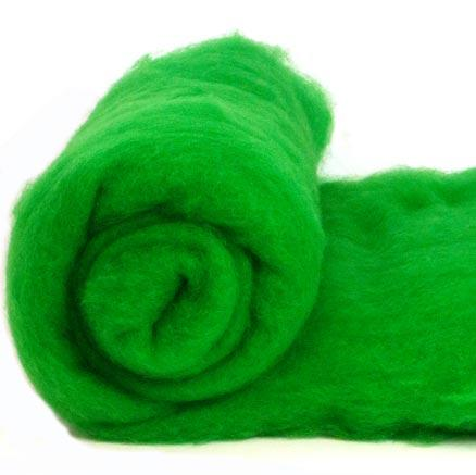 Merino Wool Carded Batt - Emerald-7 oz