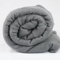Merino Wool Carded Batt - Granite-7 oz