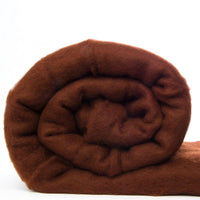 Merino Wool Carded Batt - Hazelnut-7 oz