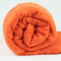 Merino Wool Carded Batt - Pumpkin-7 oz