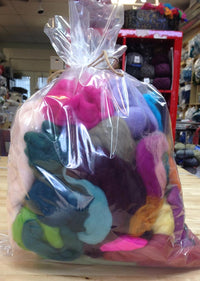 Spinning/Felting Fiber-Mixed Top and Roving Bag - 12oz