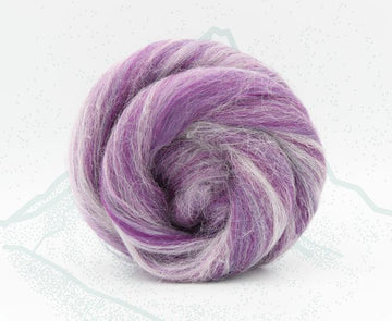 Monte Viso Purple - Merino and Aplaca Roving, Combed Top