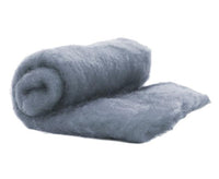 NZ Perendale Wool Carded Batt - Ash-7 oz